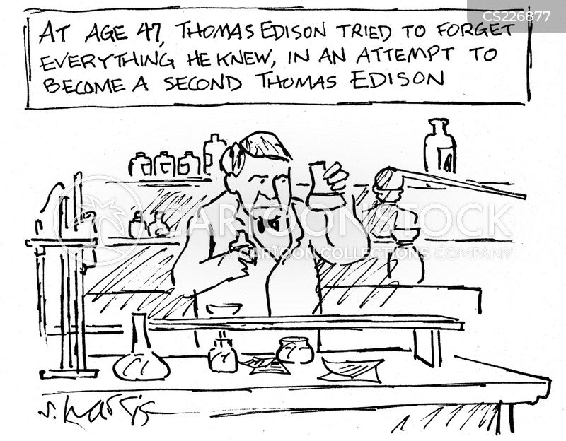 Thomas Edison Invents Light Bulb