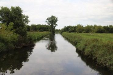 Canalized Badfish Creek.