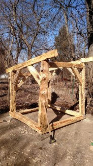 The assembled coop frame.