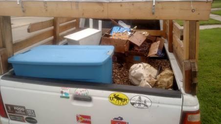 Honeycomb and construction debris.