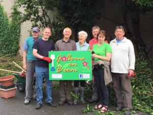 Local Councillor James Grundy joined Golborne in Bloom recently for some clearance work near the Charles Napier Pub