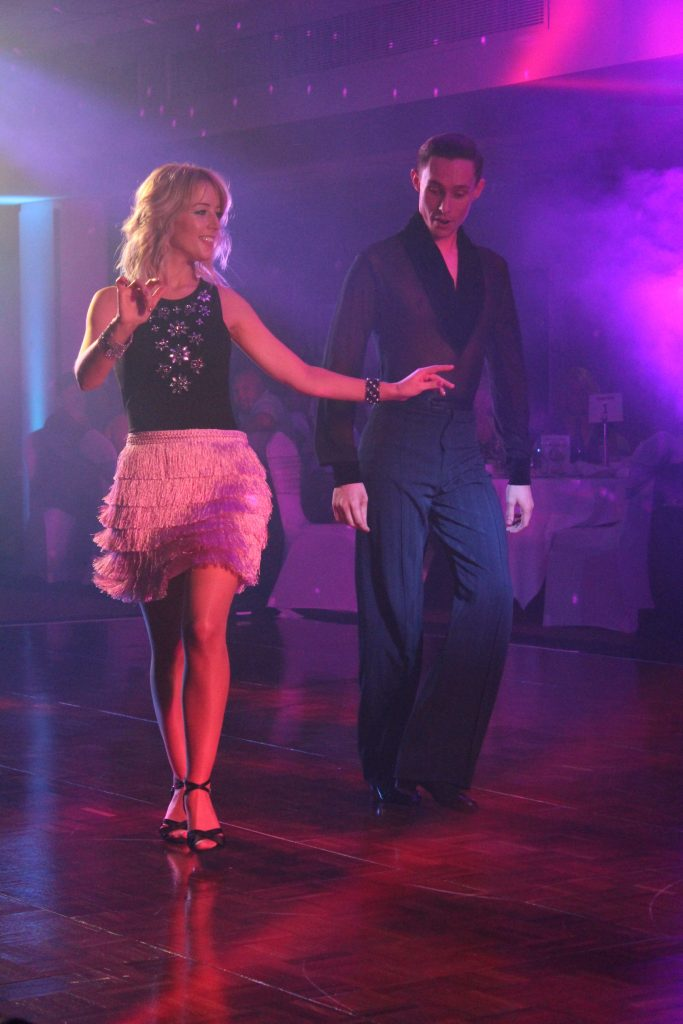 Linzi Grimshaw from Lowton dancing with Cameron Robinson for Wigan and Leigh Hospice's Strictly event.