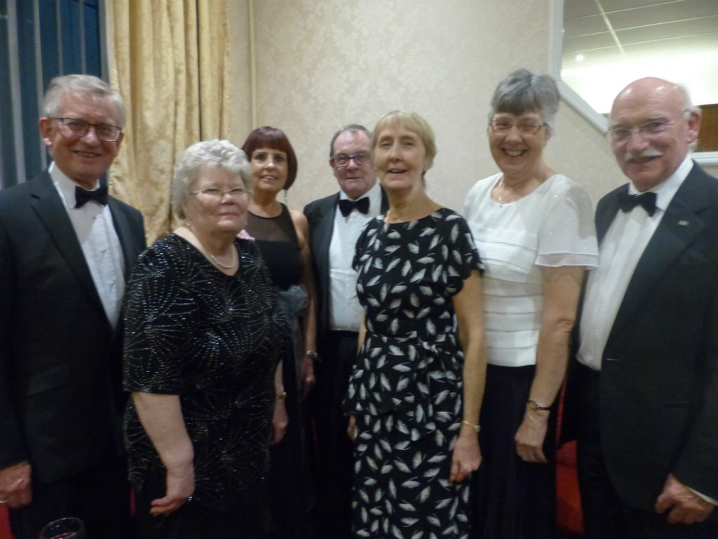 Founder members of The Three Towns Operatic Society David Kay, Margaret Laithwaite, Susan Shaw, Neville Parry, Kathleen Sandiford, Rosemary and Peter Aldred.