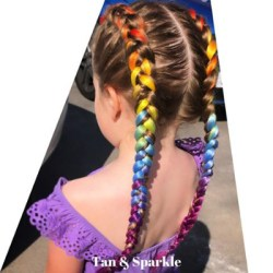 Example of a Tan and Sparkle hair braid