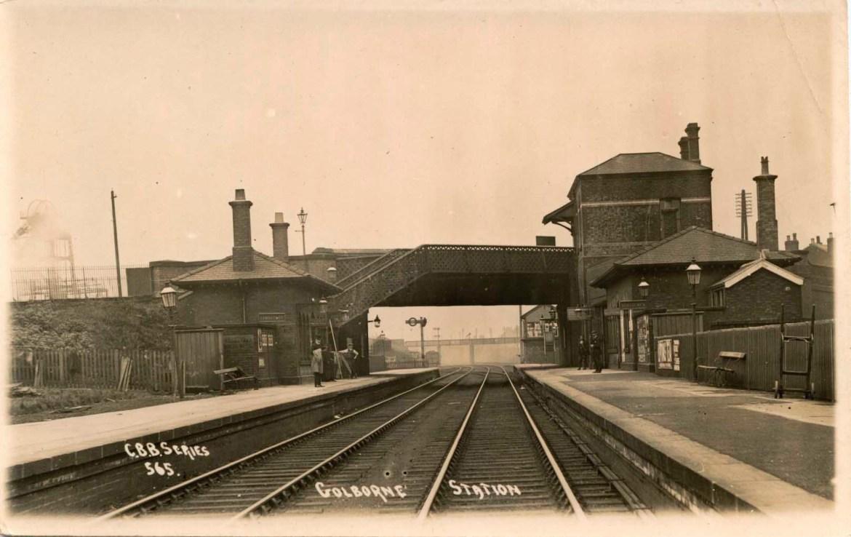 Golborne Railway Station, circa 1910