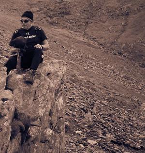 Stan Crook on a climb up Mount Snowdon