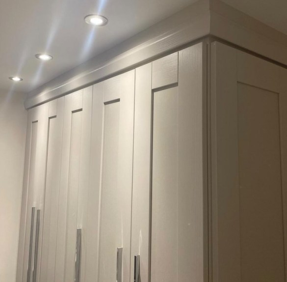 Wardrobes with top lighting