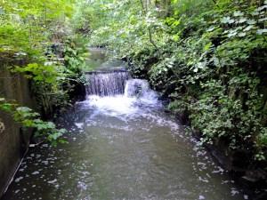 Waterfall along Millingford Brook in Golborne.