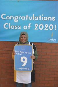 Top marks for Lowton High pupil Sohaila Ismael.