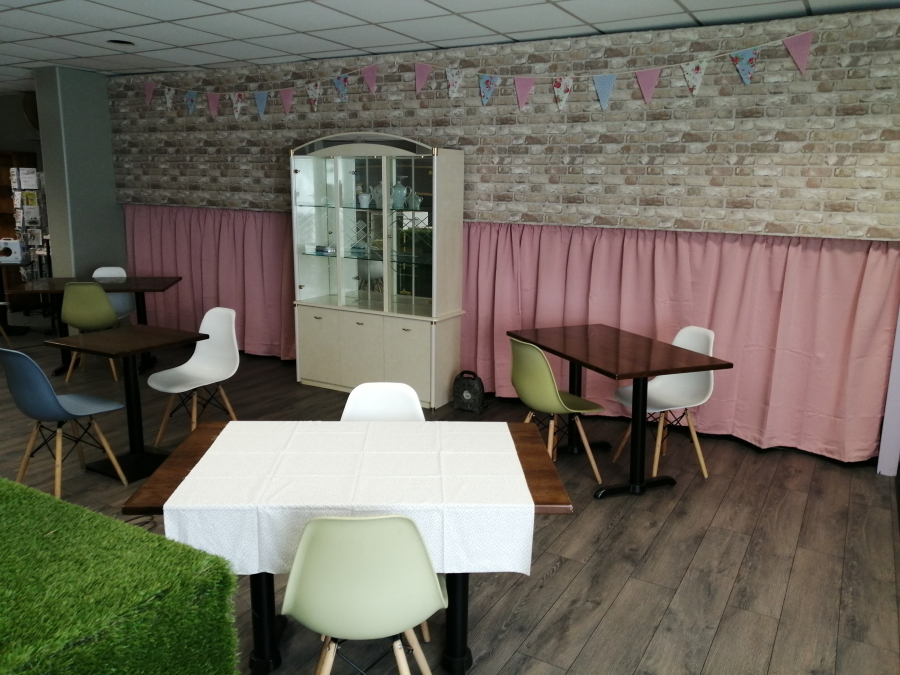 The tearoom at Something Bloomin' Different is being prepared for opening day