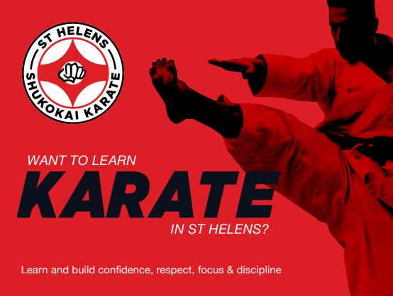 A flier advertising St Helens Shukokai Karate