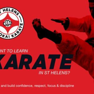 A flier advertising St Helens Shukokai Karate