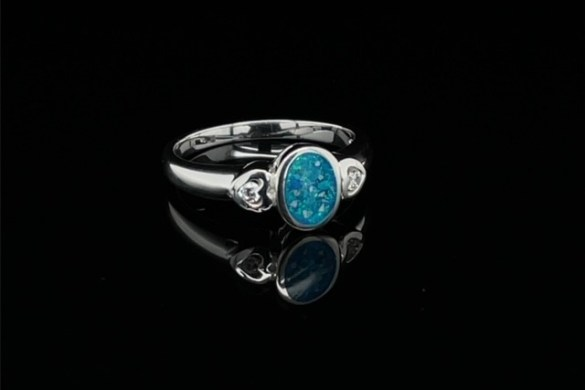 Piece of handcrafted jewellery made by Forget Me Not Ashes Jewellery in Lowton