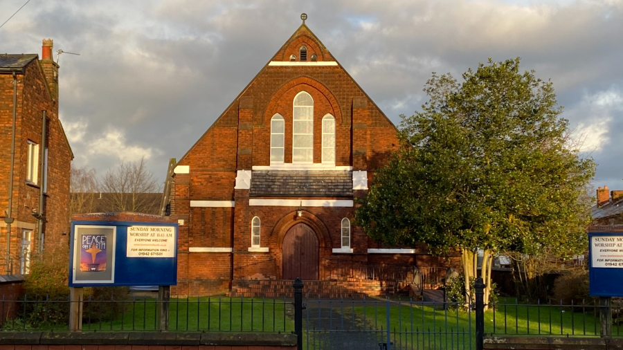 Lowton Independent Methodist Church, taken in December 2020