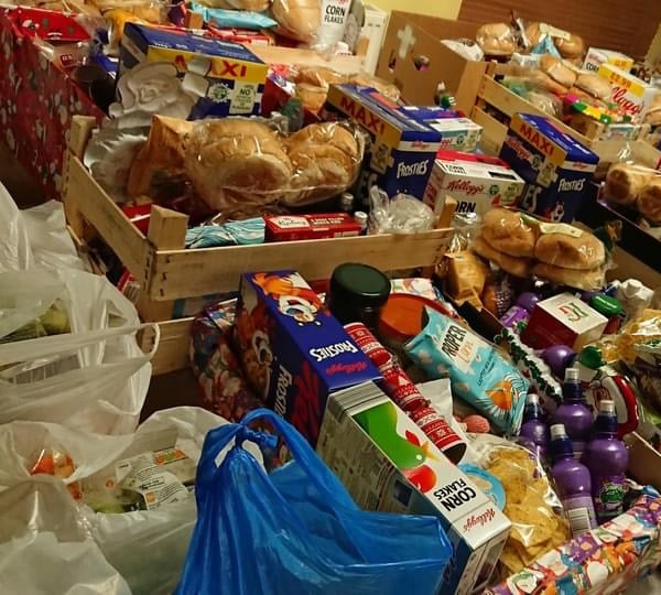 Food donated to Ashton Churches Together Food bank