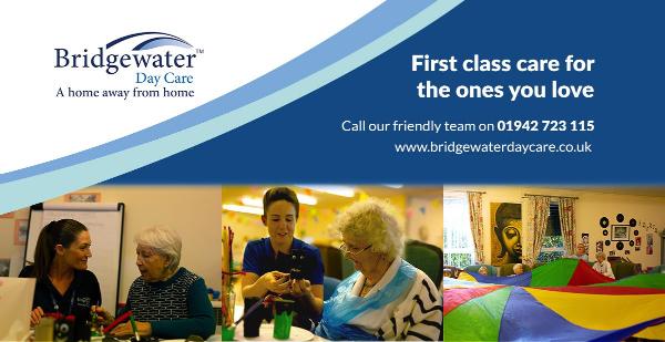 Happy client at Bridgewater Day Centre Golborne