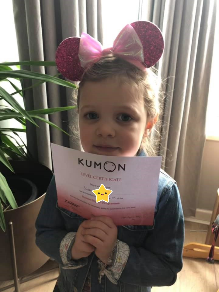 Silver - the youngest student at the Lowton Kumon Centre