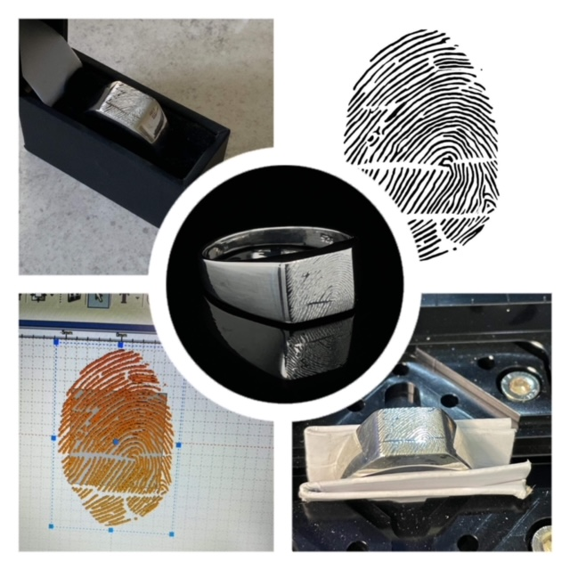 Fingerprint ring from Forget Me Not Ashes Jewellery