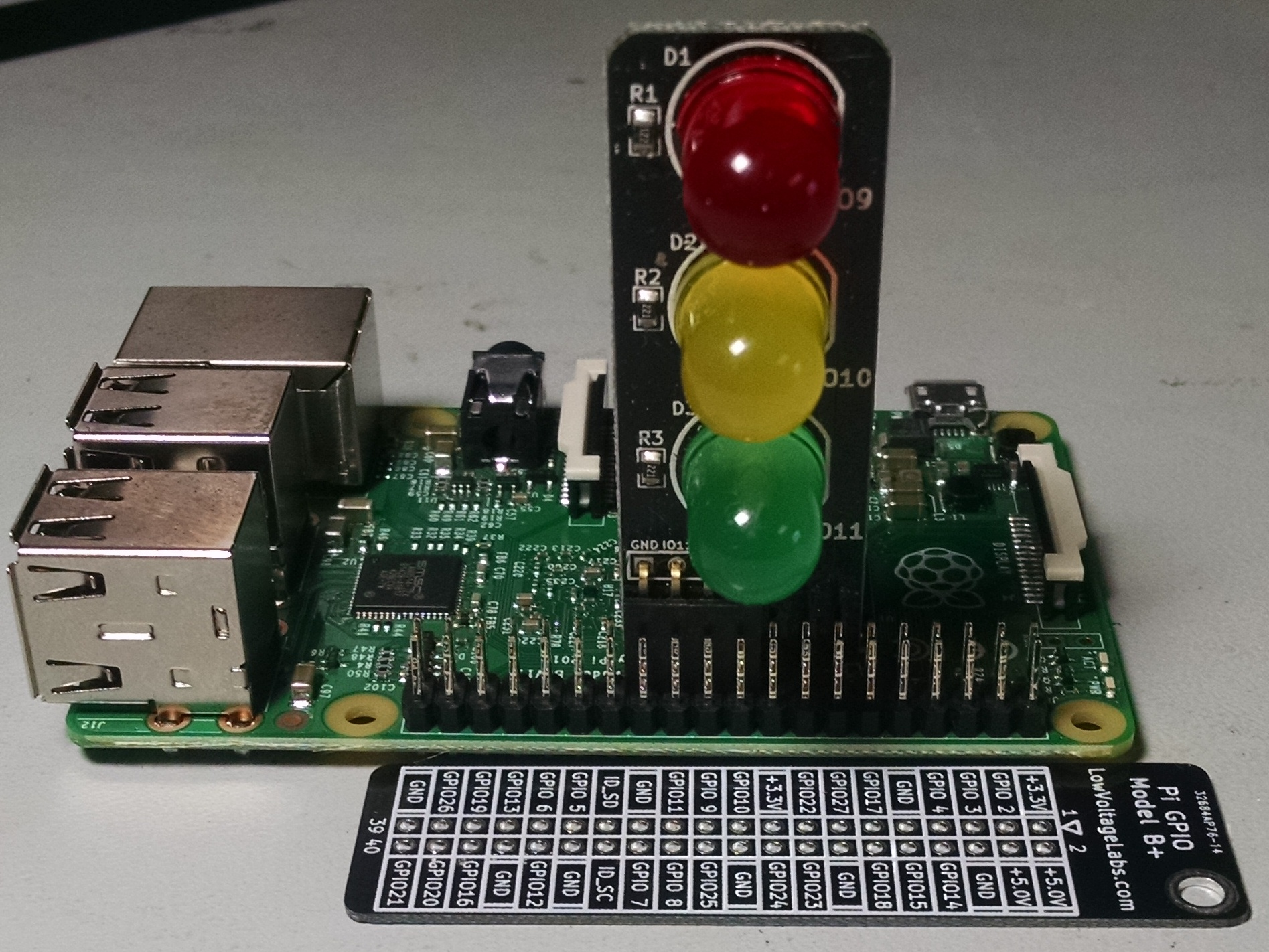 Pi Traffic Light | Low Voltage Labs