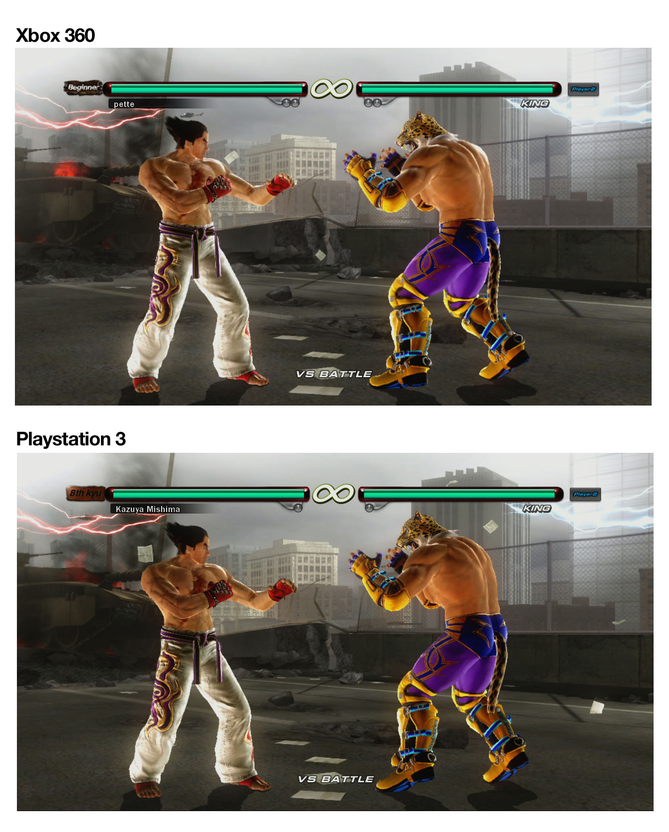 ps3 vs xbox Then when i mentioned, i'm not getting a x-box 360, i'm waiting for the ps3 to come out he said the funniest thing i've ever heard  ps3 vs x-box 360 vs wii .