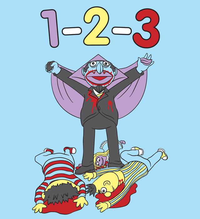 sesame street s count dracula counts down his vampire victims