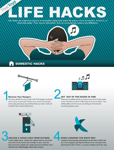 """Life Hacks"" Infographic, The Cheats To Life Are So Sweet ..."