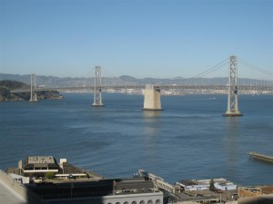 San Francisco Hyatt Regency Club view of Bay Bridge