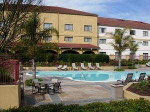 Doubletree Sonoma pool, Rohnert Park, California