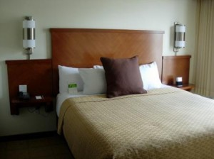 Hyatt Place bed, Fremont, California