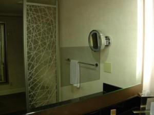 Hyatt REgency San Francisco, remodeled bathroom