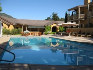 Bernardus Lodge pool, Carmel Valley, California LHW hotel member