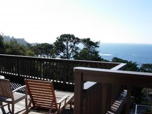 Hyatt Highlands Inn deck view, Carmel Highlands, California