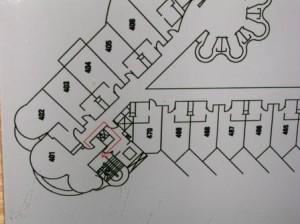 Le Meridien Changi Village Hotel, floor map Room 401