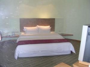 Room 401 bed orbs, Le Meridien Changi Village June 2006