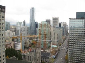 Vancouver Sheraton Wall Centre - Burrard Street View north
