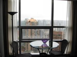 Vancouver Sheraton Wall Centre corner suite view