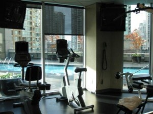 Vancouver Westin Grand workout room