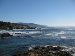 Pebble Beach Cypress Point looking south to Point Sur