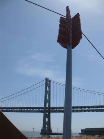 Cupid's Arrow by Bay Bridge, Embarcadero, San Francisco