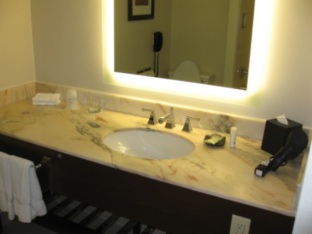 Westin Tabor Center Denver guest room bathroom
