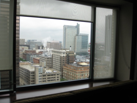 Westin Tabor Center Denver guest room window ledge
