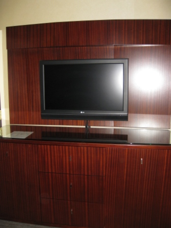 Westin Tabor Center Denver TV cabinet and mini bar