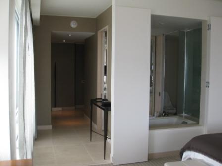 Open bathroom view at St. Regis corner room
