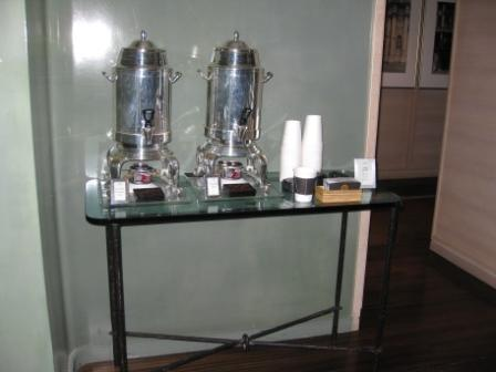 St. Regis San Francisco complimentary coffee service at 4th Floor Vitrine Restaurant