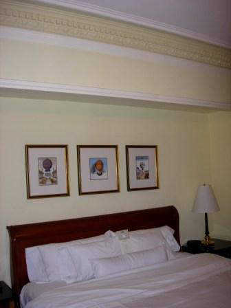 Westin 12th floor room bed