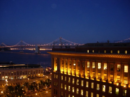 Hyatt Regency San Francisco Market Street view of Bay Bridge