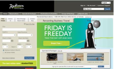 Friday is Freeday Radisson Hotels Promotion