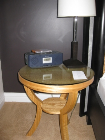 Room 146 Nightstand and Clock/CD Player