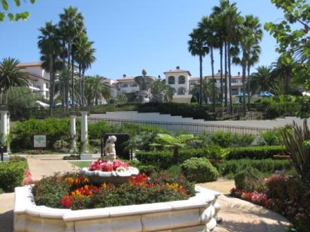 St. Regis Monarch Beach hotel view from Botanical Garden