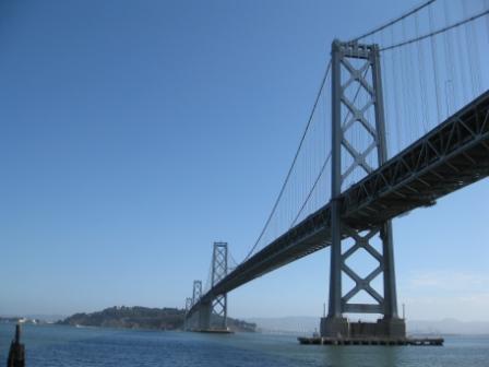 Bay Bridge view from San Francisco Embarcadero